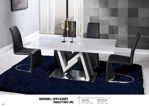 Global Furniture Dining Table White & Black-Dining Tables-HipBeds.com