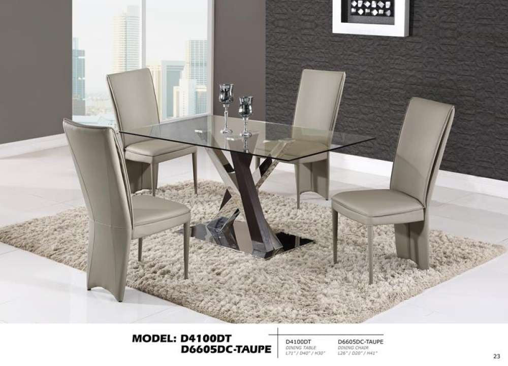 Global Furniture Dining Table Glass