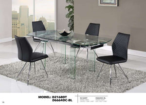 Global Furniture Dining Table Clear Glass-Dining Tables-HipBeds.com