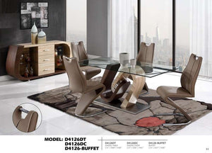 Global Furniture Dining Table X43104I Oak/Bh63025K Walnut/Ss-Dining Tables-HipBeds.com