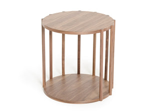 Modrest Lark Modern Walnut End Table-Nightstands-HipBeds.com