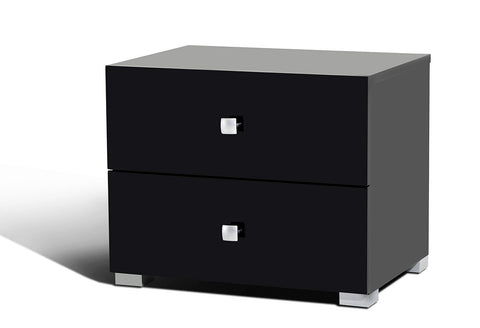 Modrest Lyrica Black Nightstand-Nightstands-HipBeds.com