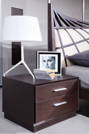 Modrest Prism Modern Brown Oak Nightstand-Nightstands-HipBeds.com