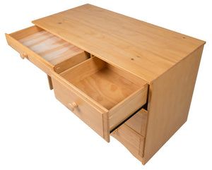Camaflexi Table - Essentials Writing Desk with Four Drawers - Natural Finish - 41121-Table-HipBeds.com