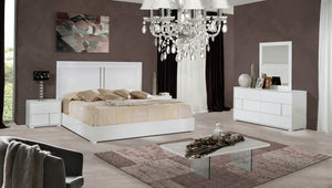 VIG Furniture Modrest Nicla Italian Modern White Bedroom Set-Bedroom Sets-HipBeds.com