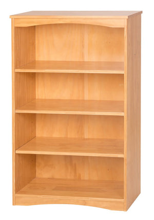 "Camaflexi Bookcase - Essentials Wooden Bookcase 48"" High - Natural Finish - 41101-Bookcase-HipBeds.com"