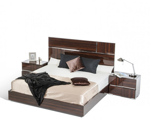 VIG Furniture Modrest Picasso Italian Modern Ebony Lacquer Bed