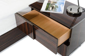 VIG Furniture Modrest Picasso Italian Modern Ebony Lacquer Bedroom Set-Bedroom Sets-HipBeds.com