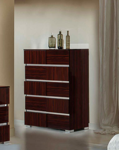VIG Furniture Modrest Picasso Italian Modern Ebony Lacquer Chest