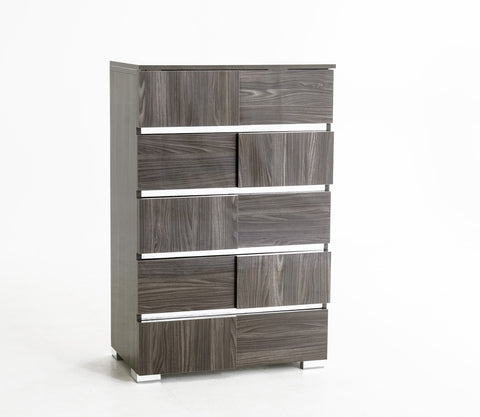 VIG Furniture Modrest Picasso Italian Modern Grey Lacquer Chest