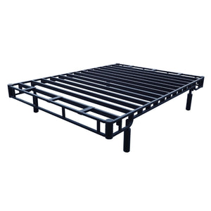 Forever Foundations Store More Black2 Western King Bed - SMB2-WK-Platform Beds-HipBeds.com