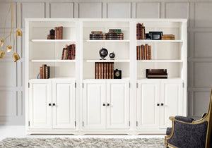Camaflexi Bookcase - Newport Bookcase with Doors - White Finish - 2273-Bookcase-HipBeds.com