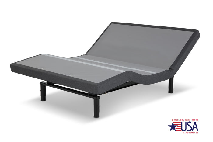 Leggett & Platt S-Cape 2.0 Foundation-style Adjustable Bed Base w/ Full Body Massage, Gray Finish - Multiple Sizes
