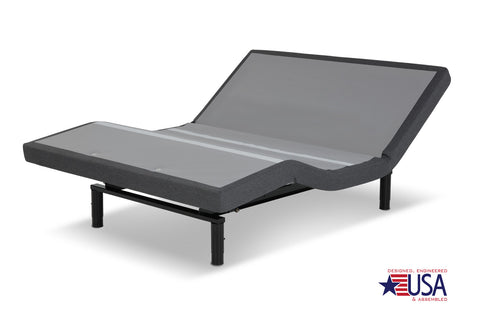 Leggett & Platt S-Cape 2.0 Foundation-style Adjustable Bed Base w/ Full Body Massage, Gray Finish - Multiple Sizes-Adjustable Beds-HipBeds.com