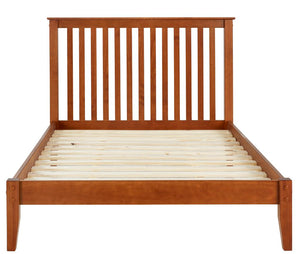 Camaflexi Bed - Mission Style King Size Platform Bed - Cherry Finish - SHK325-Bed-HipBeds.com
