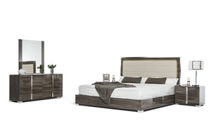 VIG Furniture Modrest San Marino Modern Grey Bed-Platform Beds-HipBeds.com