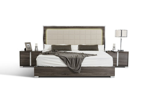 VIG Furniture Modrest San Marino Modern Grey Bed