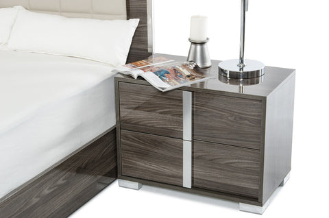 VIG Furniture Modrest San Marino Modern Grey Nightstand-Nightstands-HipBeds.com