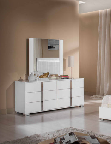 VIG Furniture Modrest San Marino Modern White Mirror