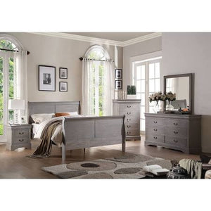 ACME Louis Philippe III Full Bed Antique Gray - 25510F-Sleigh Beds-HipBeds.com