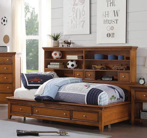 ACME Lacey Daybed w/Storage (Twin) Cherry Oak - - 30550T-Panel Beds-HipBeds.com