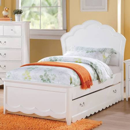 ACME Cecilie Twin Bed (Wooden HB) White - 30310T-Panel Beds-HipBeds.com