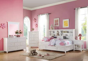 ACME Lacey Daybed w/Storage (Twin) White - 30590T-Panel Beds-HipBeds.com
