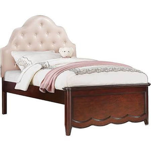 ACME Cecilie Full Bed (Wooden HB) Cherry - 30275F-Panel Beds-HipBeds.com