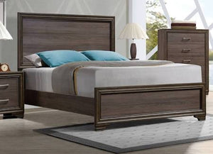 ACME Cyrille California King Bed (Wooden HB) Walnut - 25834CK-Platform Beds-HipBeds.com