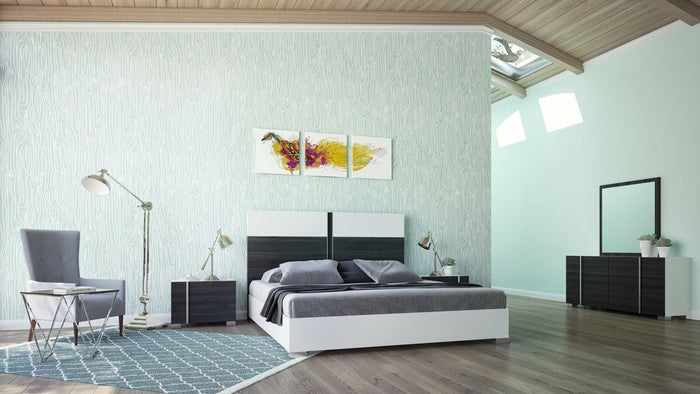 VIG Furniture Nova Domus Corrado Italian Modern White & Grey Bedroom Set