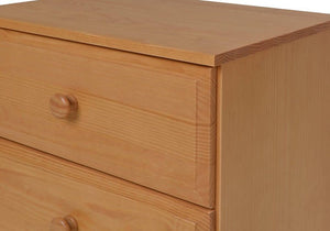 Camaflexi Chest - Essentials Three Drawer Narrow Chest - Natural Finish - 4131-Chest-HipBeds.com