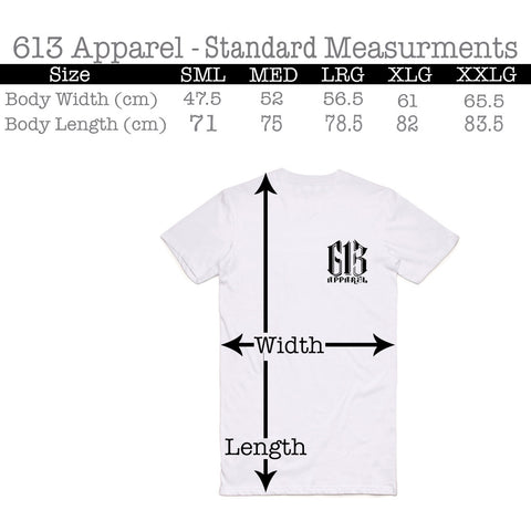Sizing Guide - Standard Size