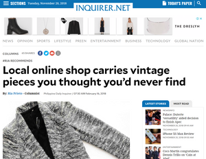 Local online shop carries vintage pieces you thought you'd never find