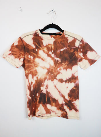Folded and Hung brown paint tshirt