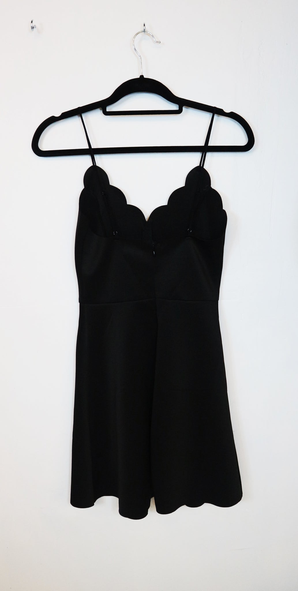 Zalora black scallop neck cami dress
