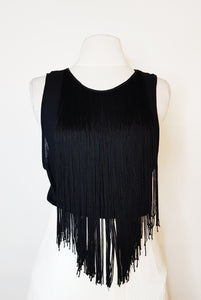 Kookai black sleeveless with flowy strings sleeveless blouse