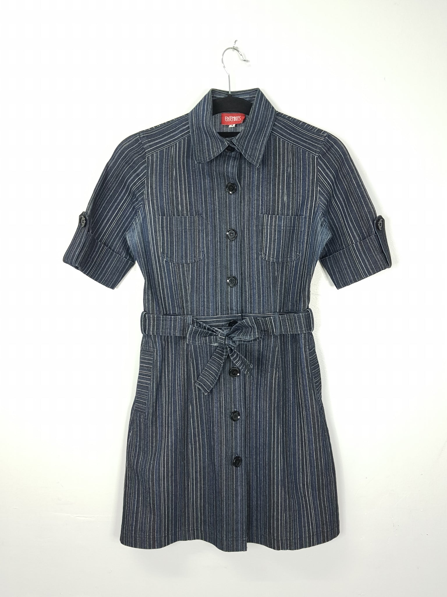Ensembles dark blue buttoned down dress