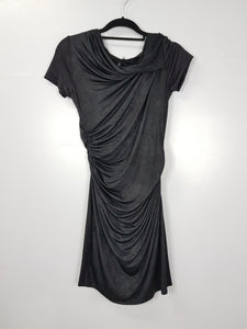 Tyler black silk dress