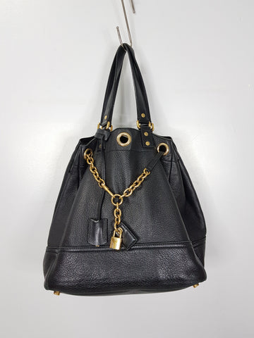 Yves Saint Laurent Faubourg Chain Pebbled Shoulder Bag