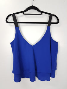 Zara blue with black strap crop top