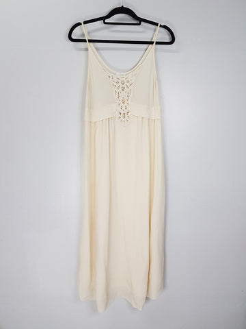 Wilfred off white spaghetti strap long dress
