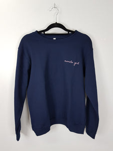 Float dark blue embroidered sweatshirt