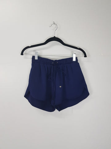 Zalora dark blue drawstring shorts