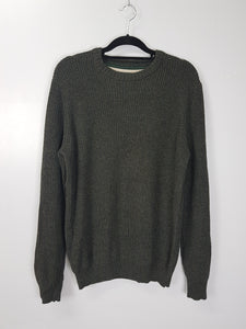 G.H. Bass & Co. dark green chunky knit sweater
