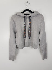Zara Knit grey sweater with hood