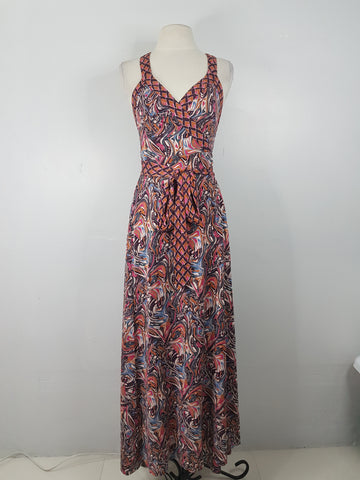 Diane Von Furstenberg multicolor wrap around long dress