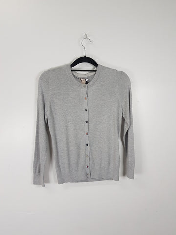 Banana Republic grey knitted cardigan
