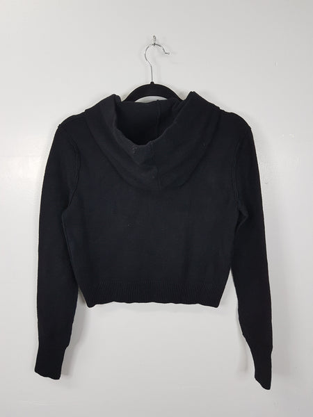 Zara Knit black sweater with hood