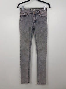 Acne Purple Acid Wash High Waist Denim