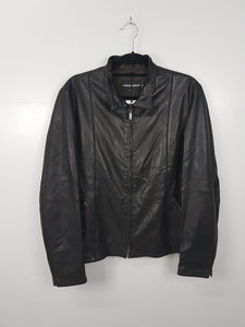 Giorgio Armani Black Leather Jacket